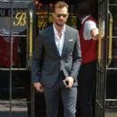 Jamie Dornan spotted leaving the Bowery Hotel in downtown Manhattan en route to record an appearance on The Late Show with Steven Colbert on August 4, 2016 - 399 x 600