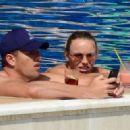 Caroline Wozniacki in Bikini on the pool in Portofino - 454 x 323