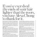 Alexa Chung for Shape US Magazine (October 2018) - 454 x 617