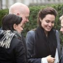 Angelina Jolie arrives at a Hotel for a business meeting with Conservative politician and friend William Hague in London, England  (February 10, 2015)