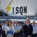 The Duke and Duchess of Cambridge visit RAAF Base Amberley. The Australian Air Force Base is the home of the F18 Hornet Fighter Jet and 1 Squadron