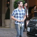 Scott Disick is spotted leaving the Montage Hotel in Beverly Hills, California on January 30, 2015