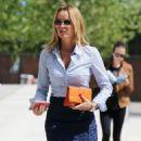 Amanda Holden in Jeans Skirt at ITV Studios in London - 454 x 640