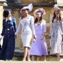 Priyanka Chopra and  Abigail Spencer :  Prince Harry Marries Ms. Meghan Markle - Windsor Castle - 454 x 313