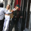 Hailey Bieber – Steps out for lunch with a friend