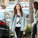 Lily Collins at Gratitude in Beverly Hills - 454 x 682
