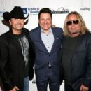 John Rich, Jay DeMarcus, and Vince Neil attend the 16th Annual Waiting for Wishes Celebrity Dinner Hosted by Kevin Carter & Jay DeMarcus on April 18, 2017 in Nashville, Tennessee. - 454 x 319