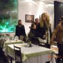 Nick Jonas and his girlfriend Delta Goodrem were spotted grabbing dinner, September 24, in Brazil