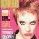 Toni Collette - Paper Magazine Cover [United States] (March 2000)