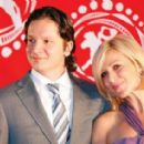 Irina Grineva with her husband Maxim Shabalin on the Film Festival