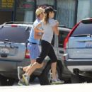 Nikki Reed and Paul McDonald out for a jog in Studio City (June 29)