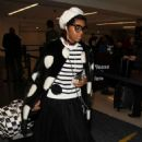 Janelle Monae at LAX Airport in LA - 454 x 649