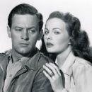 William Holden and Jeanne Crain