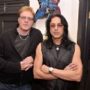 Musicians Jay Jay French and Eddie Ojeda of Twisted Sister attend the D'Angelico Guitar Auction Press Preview at GTR Showroom on March 25, 2014 in New York City. - 454 x 339