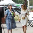 Lena Dunham at Dune restaurant in Los Angeles