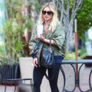 Hilary Duff – Seen while out for coffee in Los Angeles