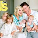 Tori Spelling and her family attending at various events through the years