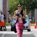Adriana Lima in Pink Yoga Pants in Miami