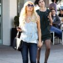 Paris Hilton filming some more for her show, 24-01-11