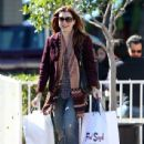 Alyson Hannigan: out doing some Christmas shopping at Fred Segal in Santa Monica
