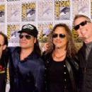 "Musicians Lars Ulrich, Robert Trujillo, Kirk Hammett and James Hetfield attend Metallica ""Through The Never"" during Comic-Con International 2013 at the Bayfront Hilton on July 19, 2013 in San Diego, California."