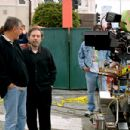Cinematographer Affonso Beato and director Terry Zwigoff on the set of United Artists' Ghost World - 2001