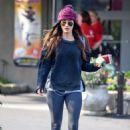 Meghan Fox in Spandex – Leaves Pinz Bowling alley in Studio City