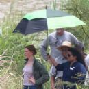 Anne Hathaway on the set for 'The Last Thing He Wanted' in San Juan - 454 x 681