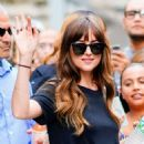 Dakota Johnson – Spotted on AOL Build in NYC