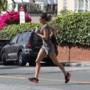 Elisabetta Canalis showing her legs in West Hollywood - 454 x 303