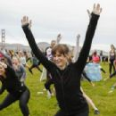 Danielle Panabaker hosts the Women's Health RUN10 FEED10 Charity Race at Crissy Field on October 25, 2015 in San Francisco, California
