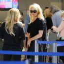 Pamela Anderson At Lax In La
