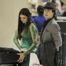 They had a blast at the 2012 People's Choice Awards, and right after the shindig, Nina Dobrev and Ian Somerhalder were spotted heading off to LAX International Airport