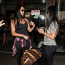 Nikki and Brie Bella at LAX International Airport in Los Angeles - 454 x 614
