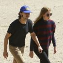 Shia LaBeouf and his new wife, Mia Goth, spend the day at the dog park in Studio City, California on October 15, 2016 - 454 x 499