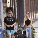 Emily Ratajkowski and husband Sebastian Bear-McClard – Morning walk in New York City