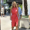 "Emily Maynard: interviewed by Mario Lopez for ""Extra!"" at The Grove in Los Angeles"
