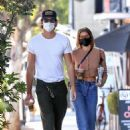 Jacob Elordi and Kaia Gerber – Out for an iced coffee in Los Angeles