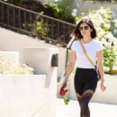 Lucy Hale – Out for a dog walk in Los Angeles