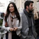 Rosario Dawson And Mathieu Schreyer Out In Rome