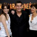 """Blanca Suarez, Spanish actor Mario Casas and Spanish actress Macarena Gomez attend """"Carne de Neon"""" premiere at the Capitol cinema on January 19, 2011 in Madrid, Spain"""