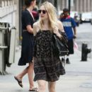 Actress Dakota Fanning is spotted out for a stroll in New York City, New York on July 27, 2015