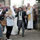 Kit Harington and Rose Leslie – Arriving at their wedding in Scotland