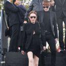 Lindsay Lohan – Saint Laurent Fashion Show in Paris