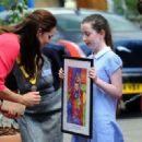 Kate visits school for M-PACT Plus (July 01, 2014)