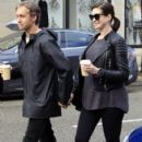 Anne Hathaway and her husband Adam Shulman out and about in Beverly Hills on January 06, 2015 - 393 x 600