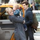 Emma Stone and Andrew Garfield were spotted walking to breakfast this morning, April 27, in New York City