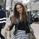 Rochelle Humes is pictured leaving the ITV studios following a guest appearance on 'Lorraine' - 430 x 600