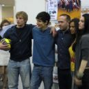 Angel Coulby and Bradley James