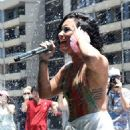 Demi Lovato 102 7 Kiis Fms Cool For The Summer Pool Party In La